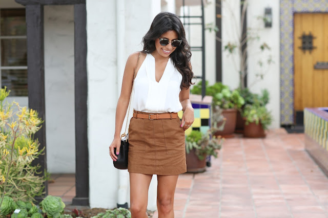 nordstrom anniversary sale finds, how to wear suede skirt, suede mini skirt, chloe bag