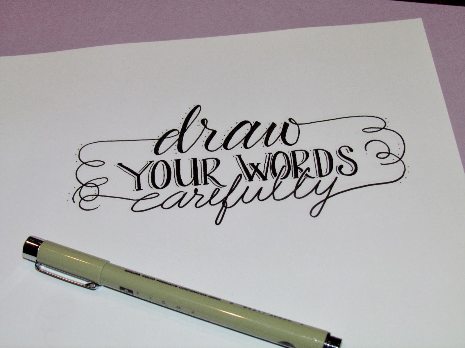 Lettering Lately-Draw your words carefully