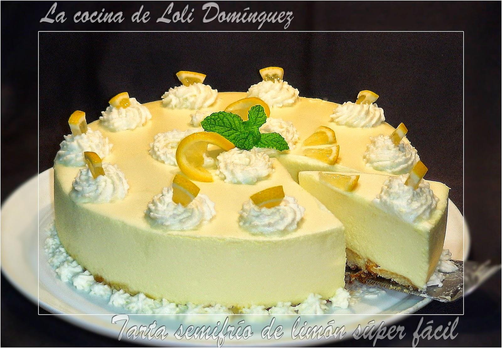 Tarta Semifrío De Limón Súper Fácil