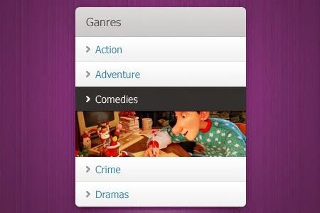 Menu, select a genre