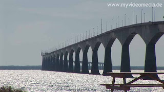 Confederation Bridge seen from Prince Edward Island