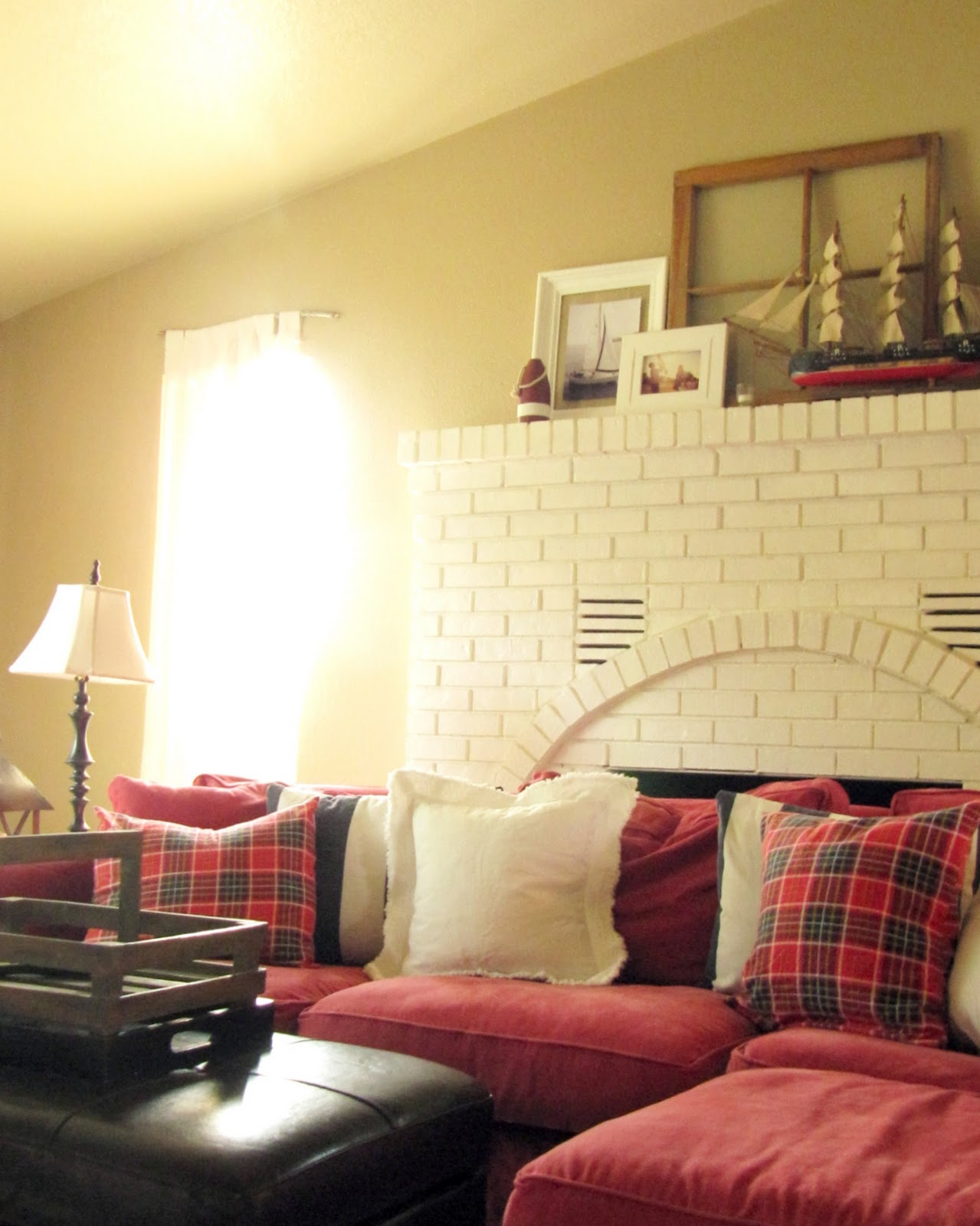 My Living Room Dressed in Plaid - The Wicker House