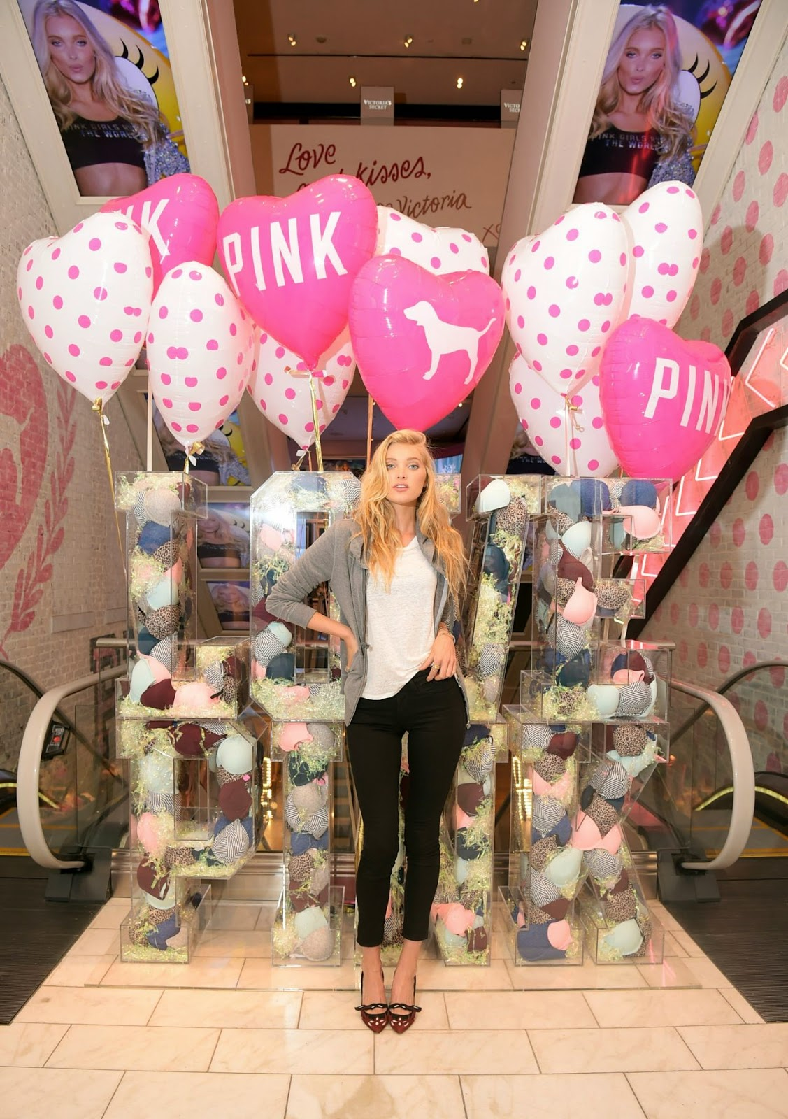 Elsa Hosk at the Victoria's Secret Pink 'Wear Everywear Bra' Launch in NY