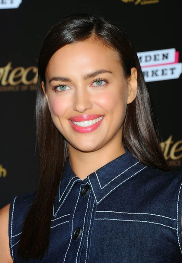 Irina Shayk wears a denim dress at the Playtech launch party in Gilmgamesh, London on Tuesday, February 3, 2015.
