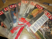 Lot of 10 Life Magazines Important Baseball Issues 1937-1969