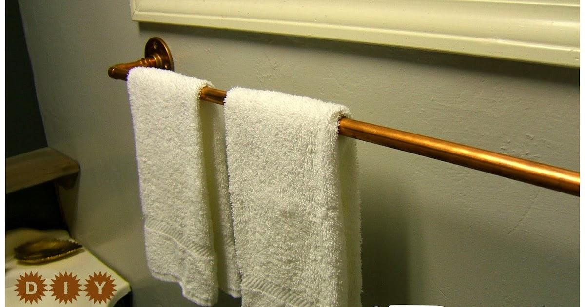 . Nine Red  DIY Copper Towel Rack