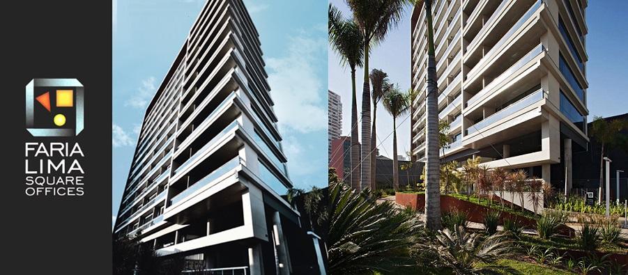 FARIA LIMA SQUARE OFFICES - salas comerciais de 34 a 77m² e lajes de 621m² - São Paulo-SP