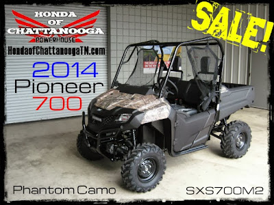 2014 Pioneer 700 Phantom Camo Sale Price Honda Chattanooga TN Lowest & Best SXS700M2 Pioneer Camo Price UTV