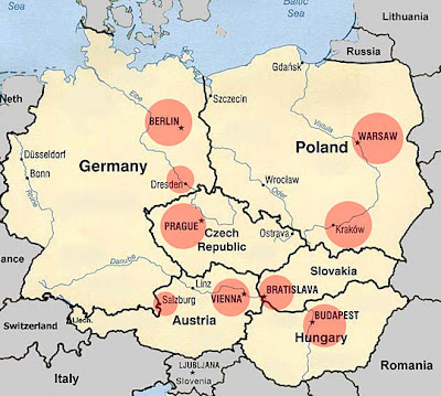 Map of Central Europe