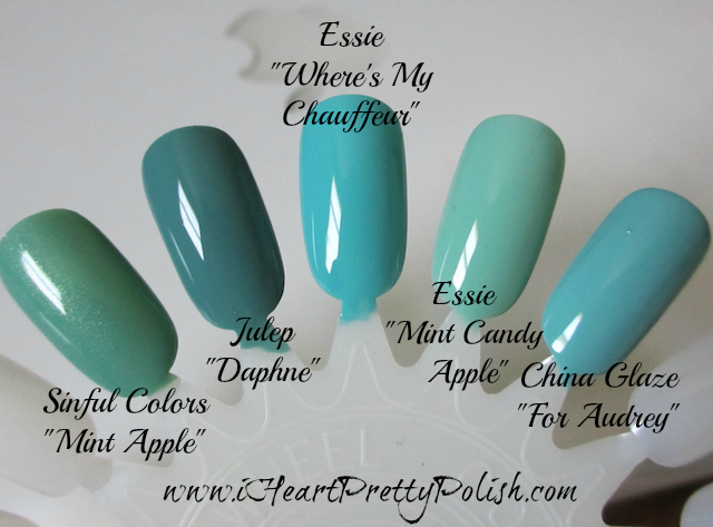 Turquoise polish dupes comparison