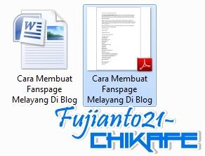 Cara Mengubah  File Word Ke Pdf, hasil Pdf