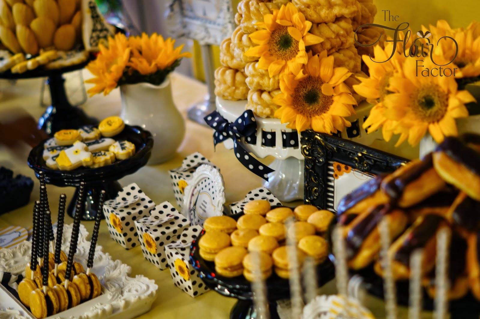 f te fanatic parisian sunflower baby shower