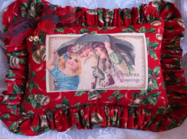 Cuscino natalizio vittoriano