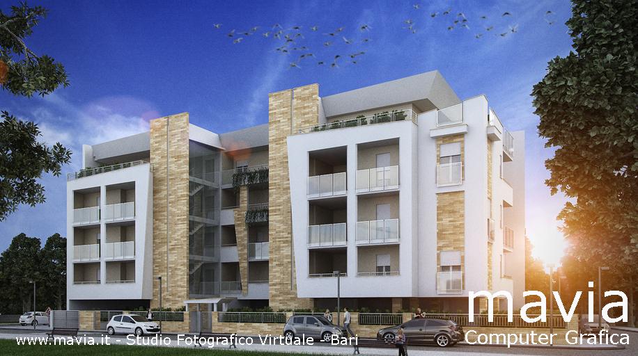 Esterni 3d rendering 3d architettura 3d architettura for Architettura case