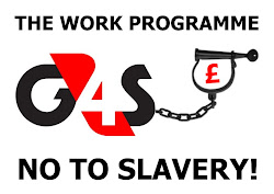 G4S Work Programme ball and chain protest