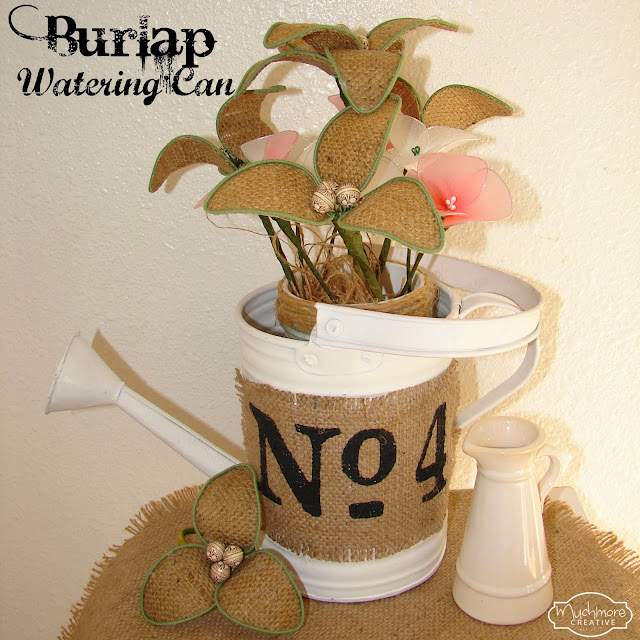 Burlap Watering Can