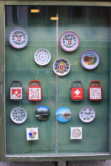 Swiss fridge magnets souvenir at Lucerne, Switzerland