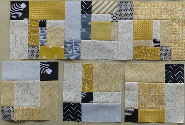 Work in progress - Cut up nine patch block