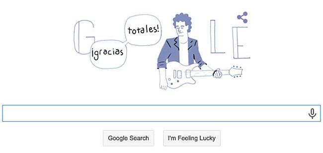 Google Doodle Merayakan Ulang tahun Gustavo Cerati  Pada 11 Agustus 2015.