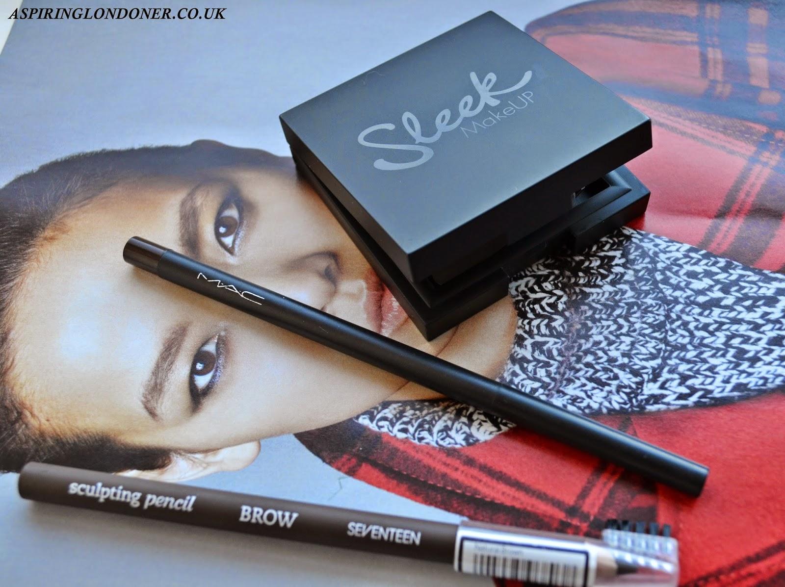 Brows 101 ft. Sleek Makeup Brow Kit, MAC Eyebrow Pencil, Seventeen Sculpting Brow Pencil Review - Aspiring Londoner