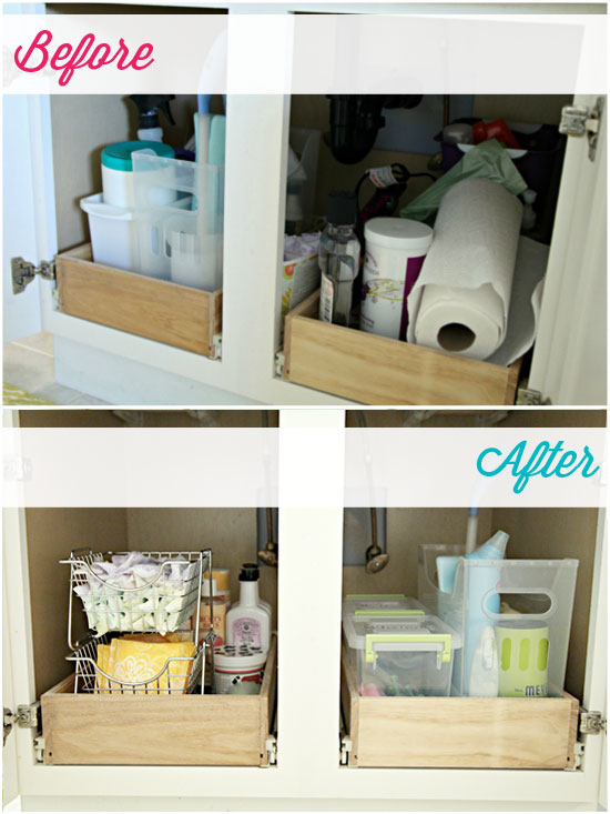 Marvelous Bathroom Sink Organization Ideas Part - 13: IHeart Organizing: Monthly Organizing Challenge: Organizing Under The Bathroom  Sink