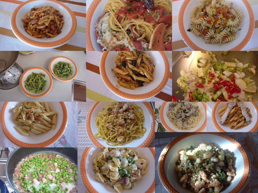 collage di pasta