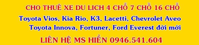 Cho Thuê Xe 4 Chỗ, Cho Thue Xe 4 Cho Lh 0983314426