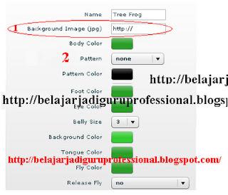 Cara buat kodok bergerak di blog