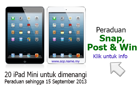 "Peraduan ""Snap, Post & Win"" iPad Mini"