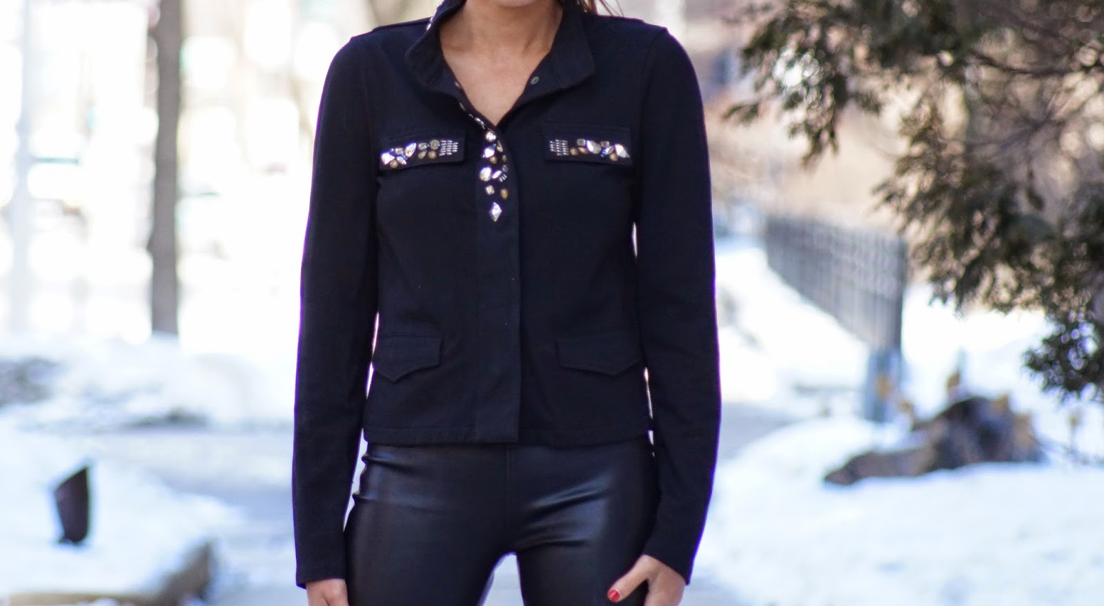 Design History// Black studded blouse