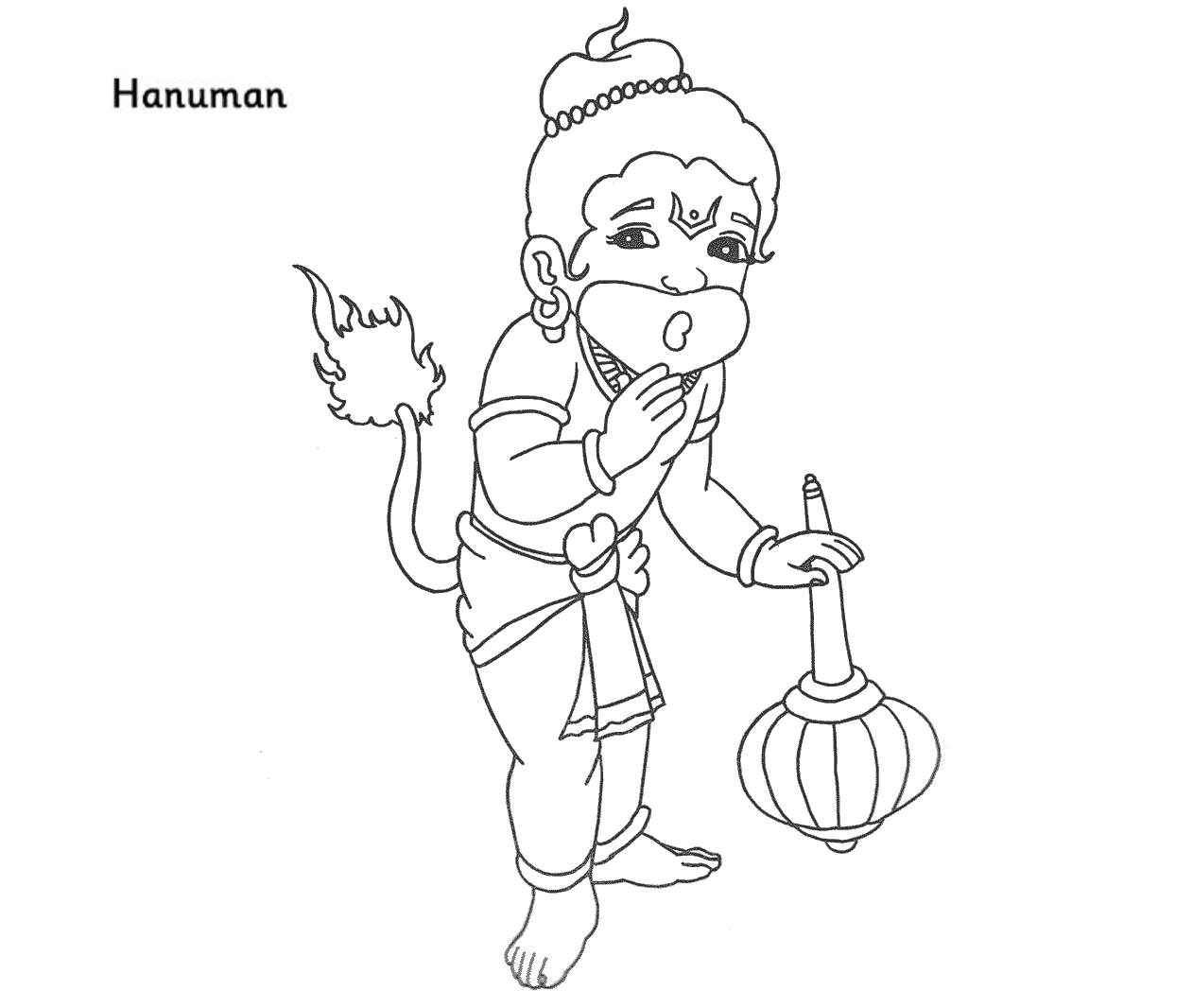 Colour Drawing Free HD Wallpapers Lord Hanuman Coloring Page Free