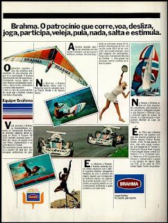 propaganda brahma anos 70; os anos 70; propaganda na década de 70; Brazil in the 70s, história anos 70; Oswaldo Hernandez;