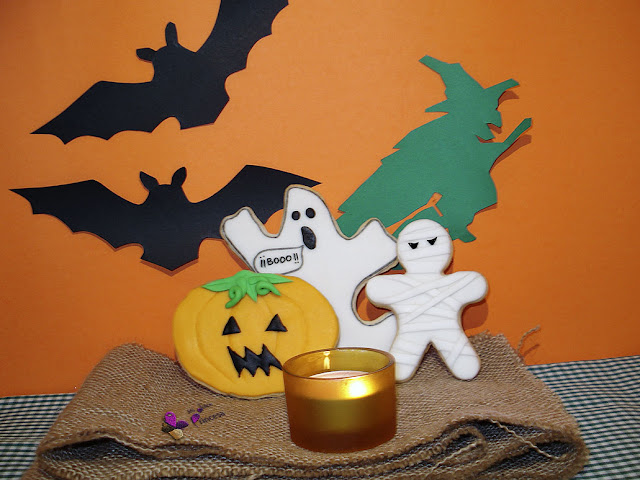 calabaza, fantasma, fondant, galletas, galletas fondant, halloween, momia