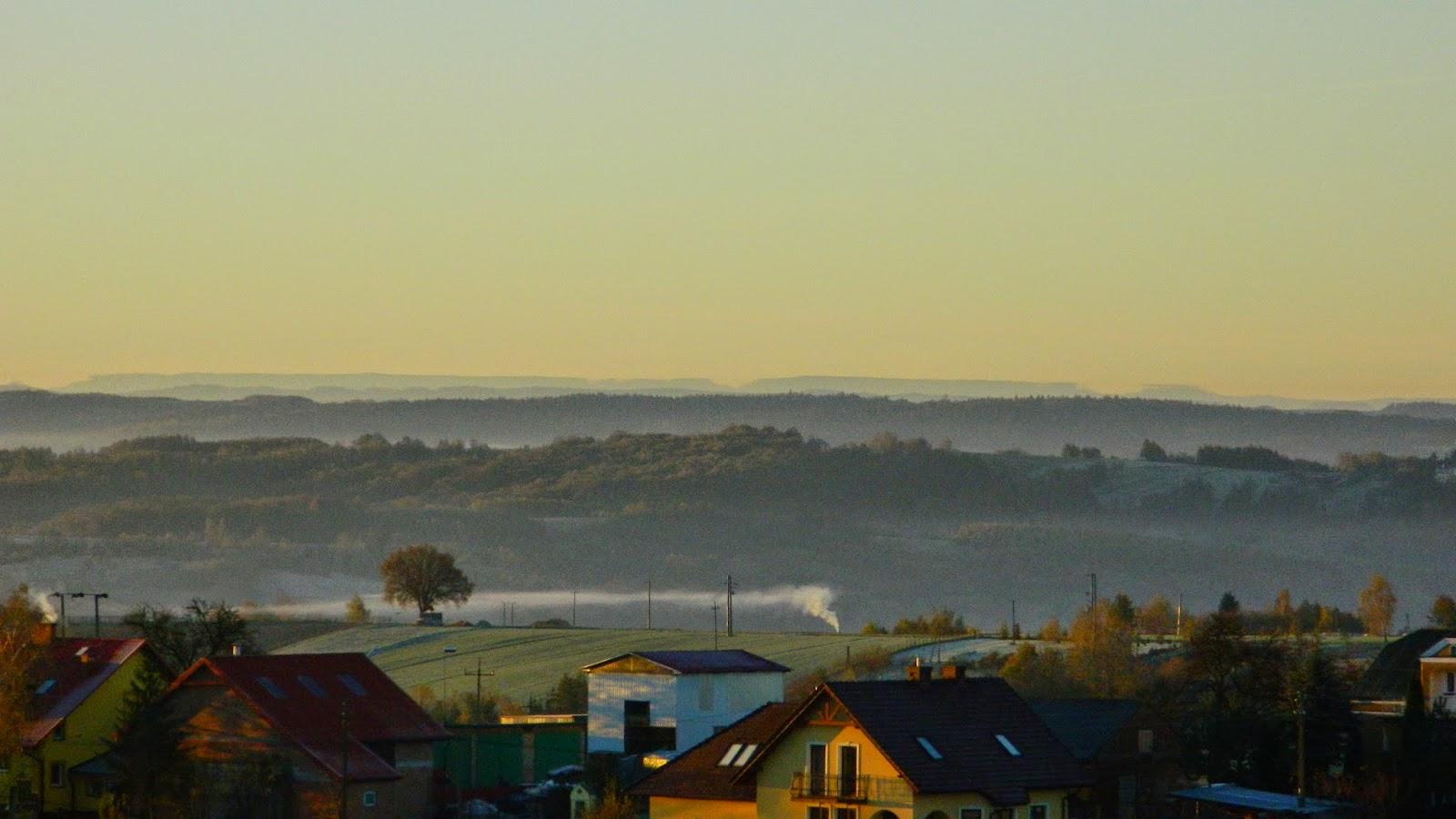 Widok na Bieszczady z Cierpisza, Rzeszów, Bieszczady, dalekie obserwacje, widać z Cierpisza, miraż
