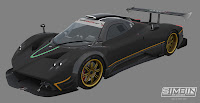 Pagani Zonda R GTR3 renders 2
