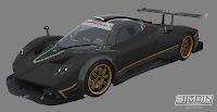 Pagani Zonda R GTR3 renders 2