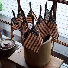 flags in crock