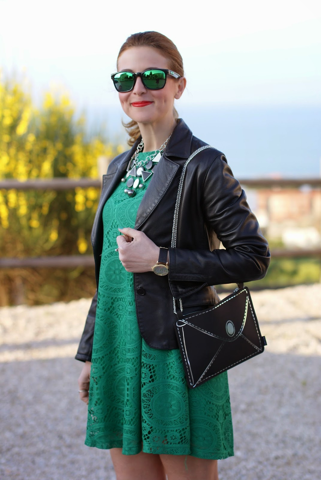 Vitti Ferria Contin jewelry, Today I'm me evening bag, millelire watch, Sheinside green dress, Fashion and Cookies, fashion blogger