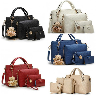 MULTI FUNCTION BAG ( 3 IN 1 SET ) - BLACK , BEIGE , BLUE , RED , GOLD