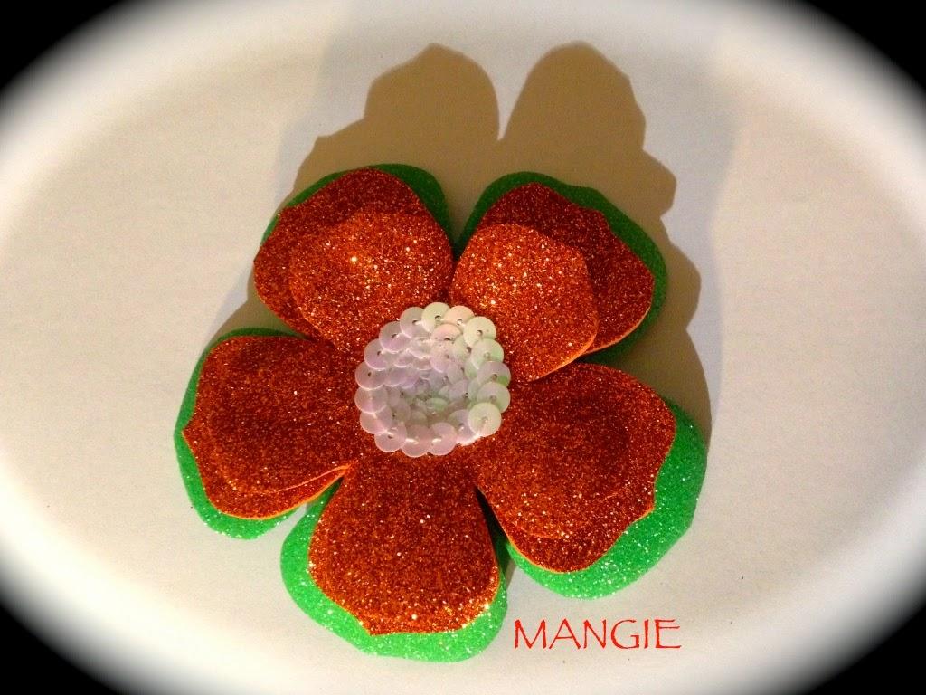Flor naranja doble