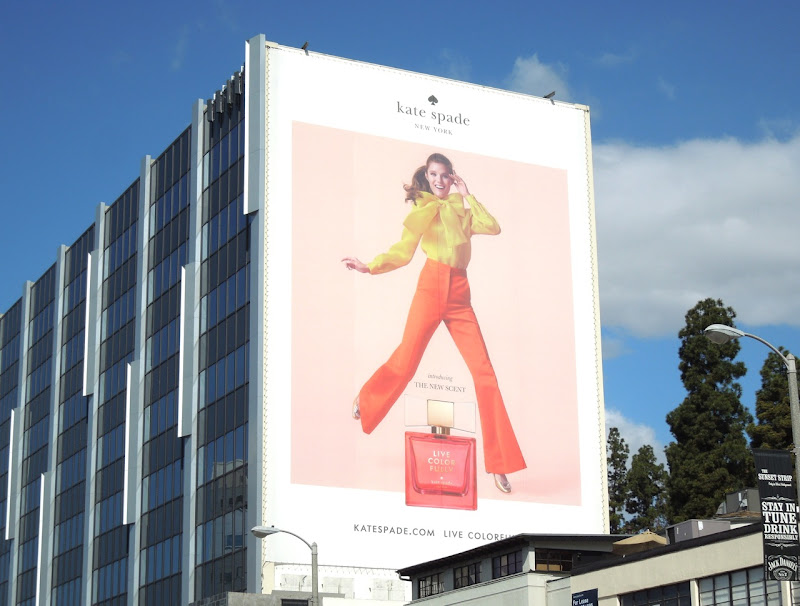 Giant Live Colorfully Kate Spade scent billboard