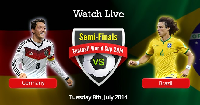 Brazil Vs Germany World Cup Semifinals Live Streaming