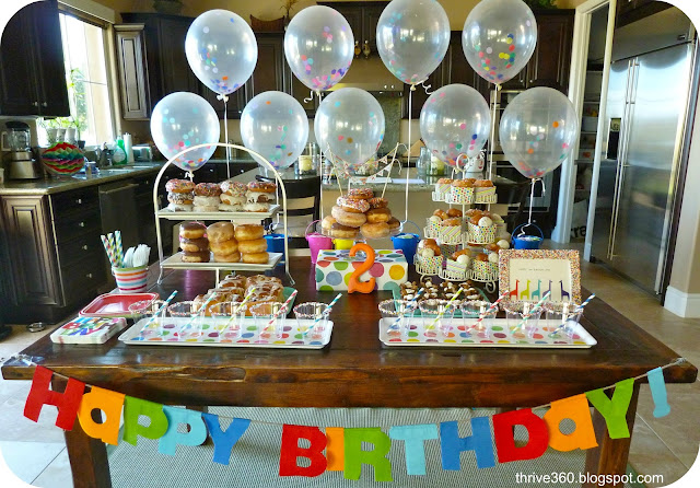 Donut Birthday Party Table