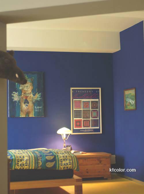Paredes de color azul en interior y exterior cocinas - Colores azules para paredes ...