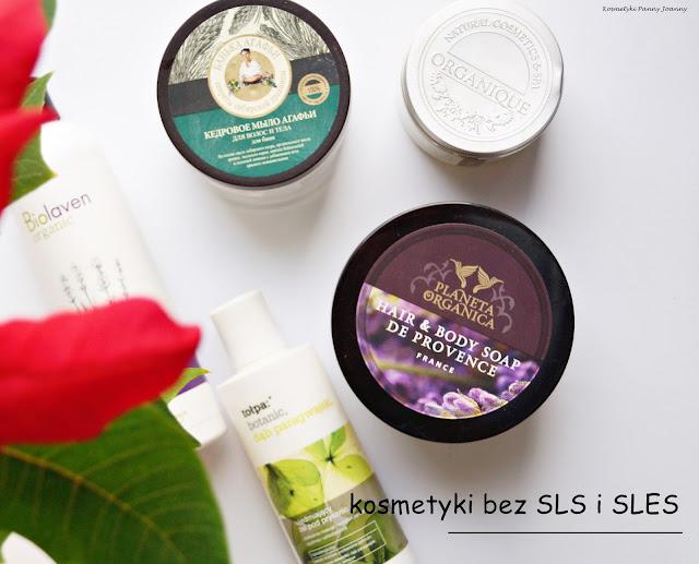 kosmetyki bez SLS i SLES - produkty do mycia ciała bez silnych detergentów