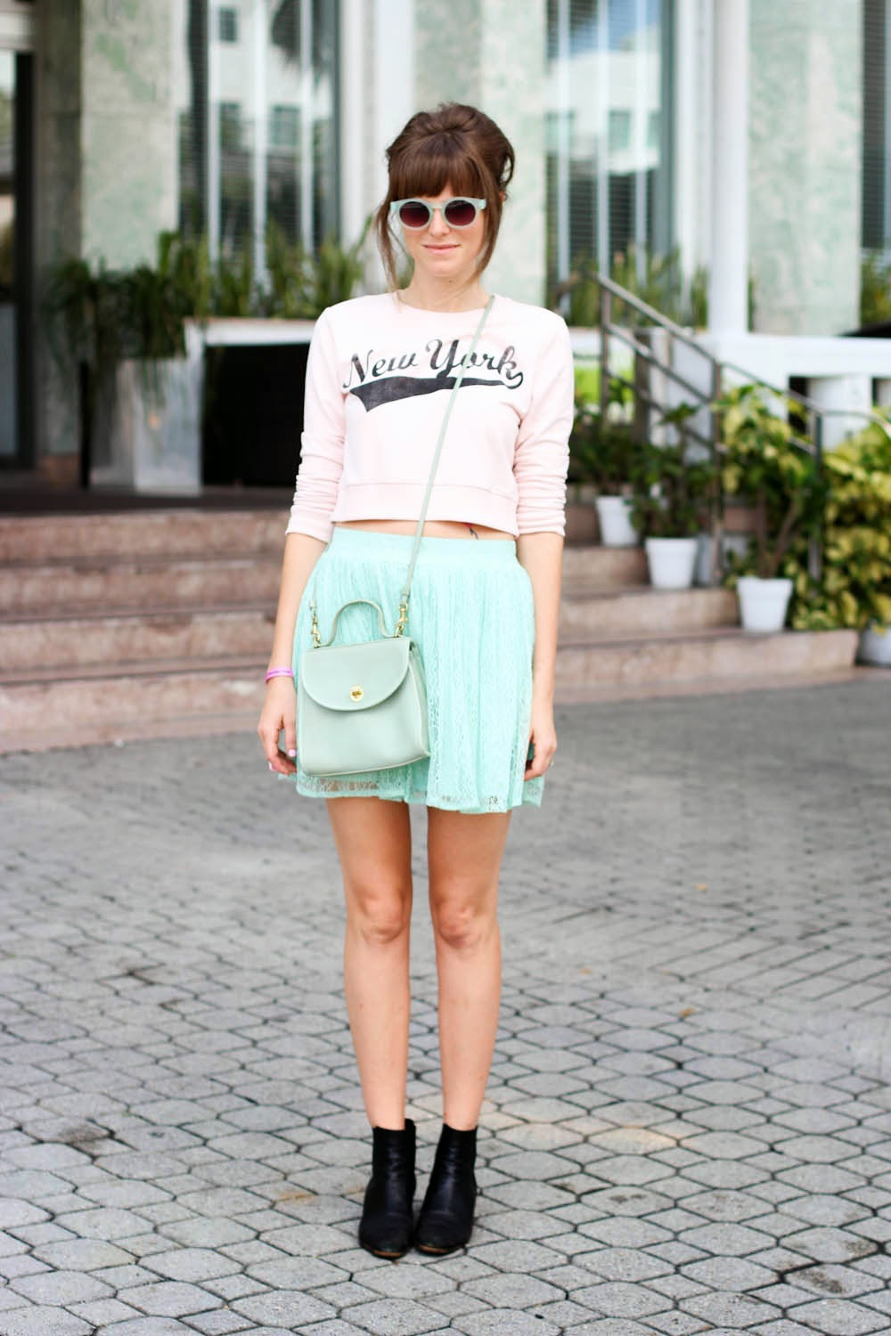 new york sweater, forever 21, mint green, steffy kuncman