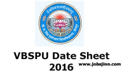 VBSPU Date Sheet 2016