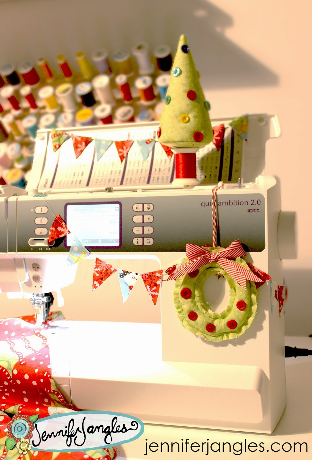 sewing machine decorations holiday project 1 - Christmas Decorations To Make With Sewing Machine