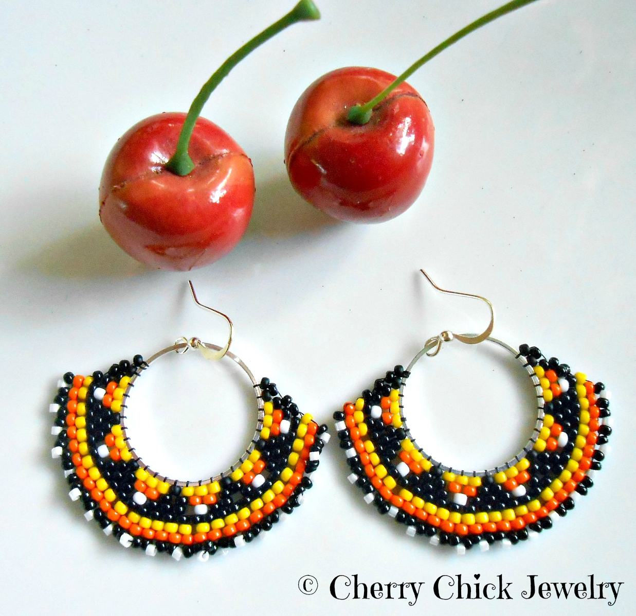 Pumpkin Spice Everything Is Out Now So That Means It's Time To Think About  Autumn Earringsright? I've Just Added A Couple Of Hand Stitched Beaded  Fall