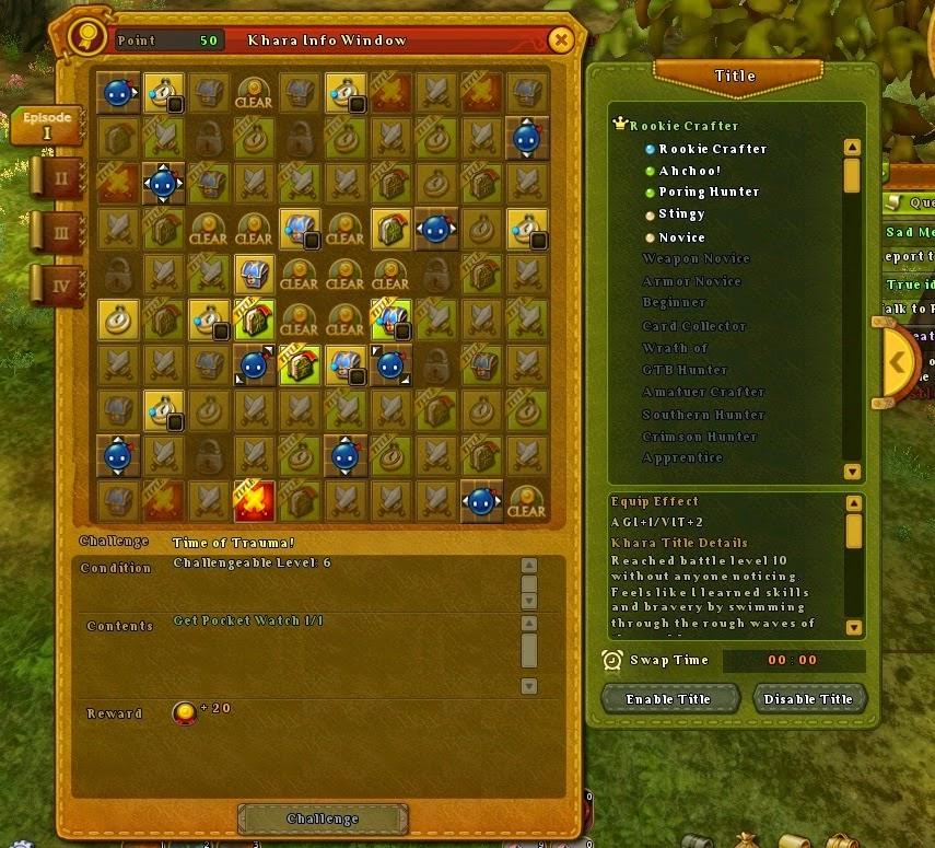 Ragnarok Online 2 Khara system